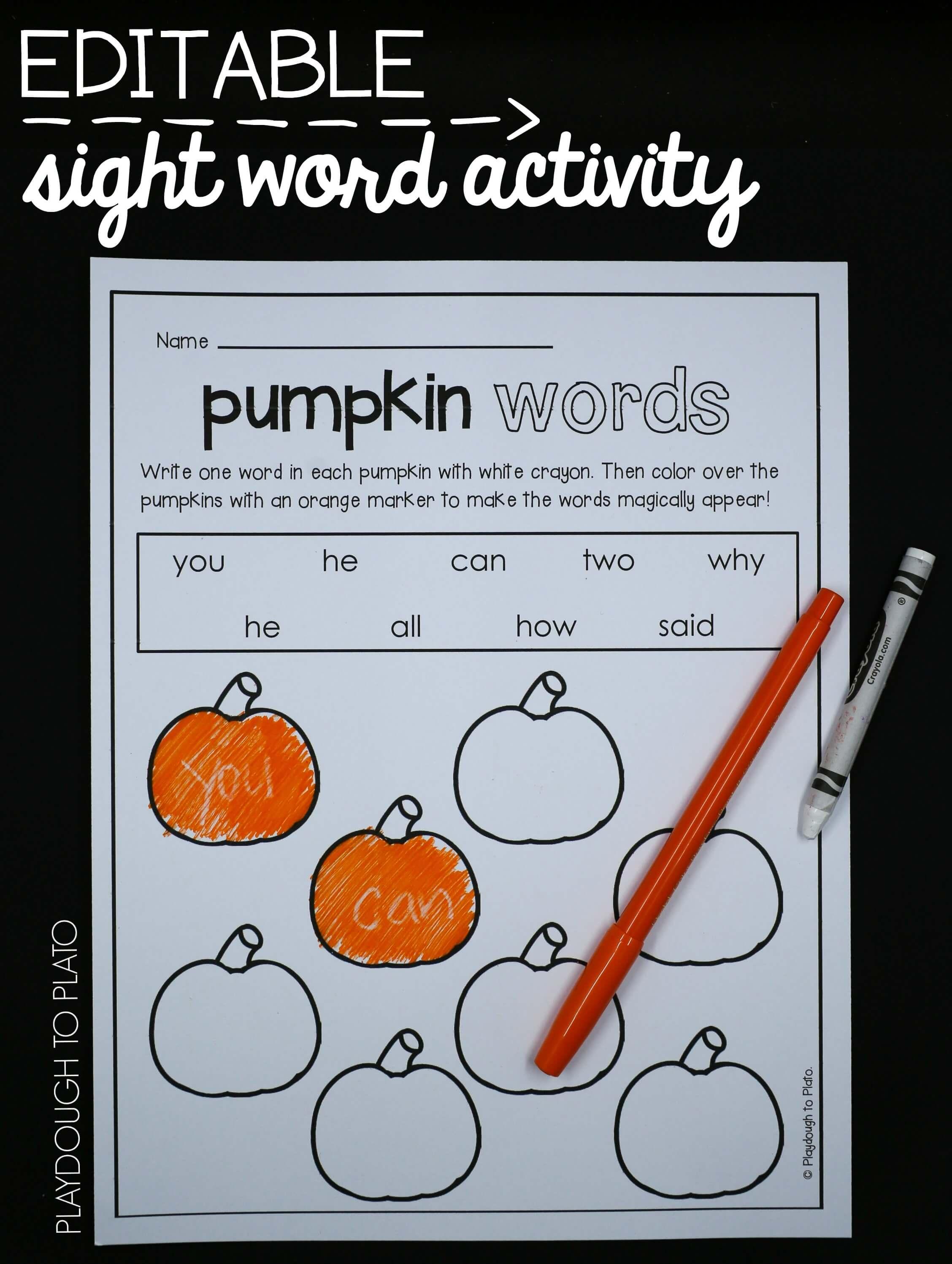 First Grade Pumpkin Activities