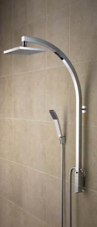 Bristan Qube Inline Vertical Shower Pole with Integral