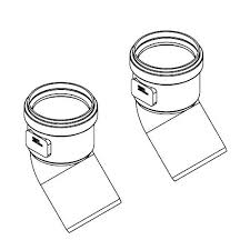 Ideal High Level 45 degree Flue Elbow (pair) 203230