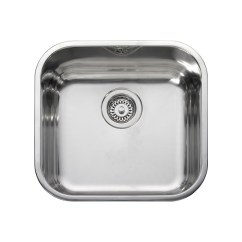 Square Kitchen Sink Portable Leisure Bss40 1 0 Bowl Inset Stainless Steel
