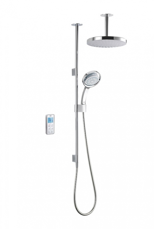Mira Vision Ceiling Fed Pumped Digital Mixer Shower