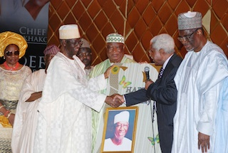 A birthday card from another octogenarian, ex-Vice President Alex Ekwueme, on behalf of PDP Board of Trustees.