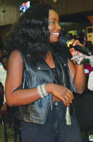 •Evelle Idol winner, performing in Ibadan.