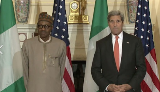 President Muhammadu Buhari and John Kerry