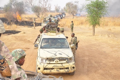 Nigerian security forces shot two gunmen dead
