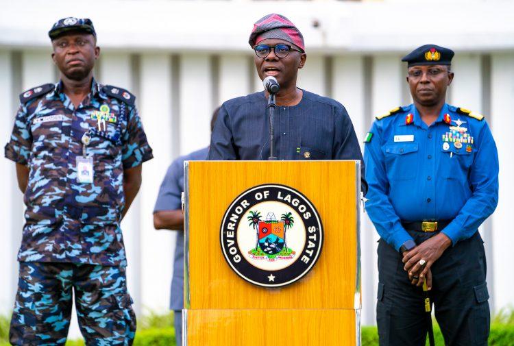 Sanwo-Olu briefing newsmen on Coronavirus