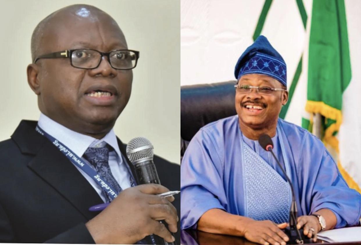 UI VC, Professor Idowu Olayinka and Late Ajimobi