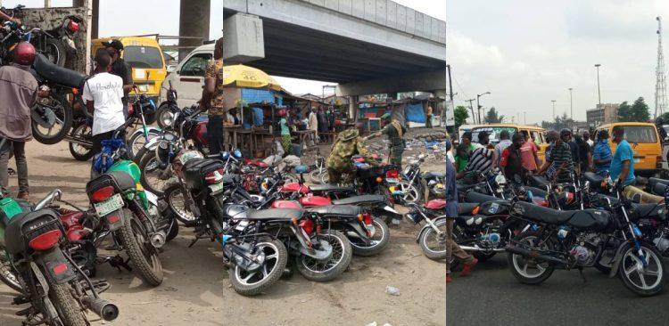 2,000 okadas impounded in massive raid in Lagos