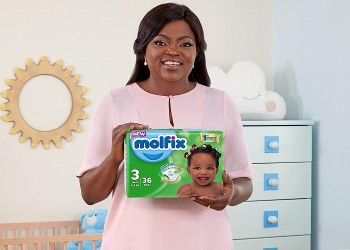 Molfix brand ambassador, Funke Akindele Bello