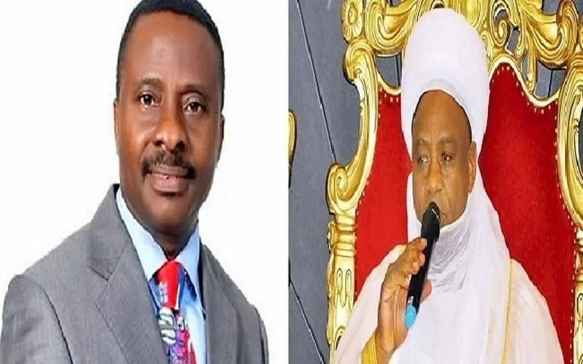 Right: Leader of Nigerian Supreme Council for Islamic Affairs, NSCIA, Sultan of Sokoto, Alhaji Muhammad Saad Abubakar and President of Christian Association of Nigeria, CAN, Rev. Samson AyokunleL NSCIA issues strong warning to CAN President over his call that DSS, should probe alleged link Minister of Communications and Digital Economy, Isa Pantanmi to terrorism