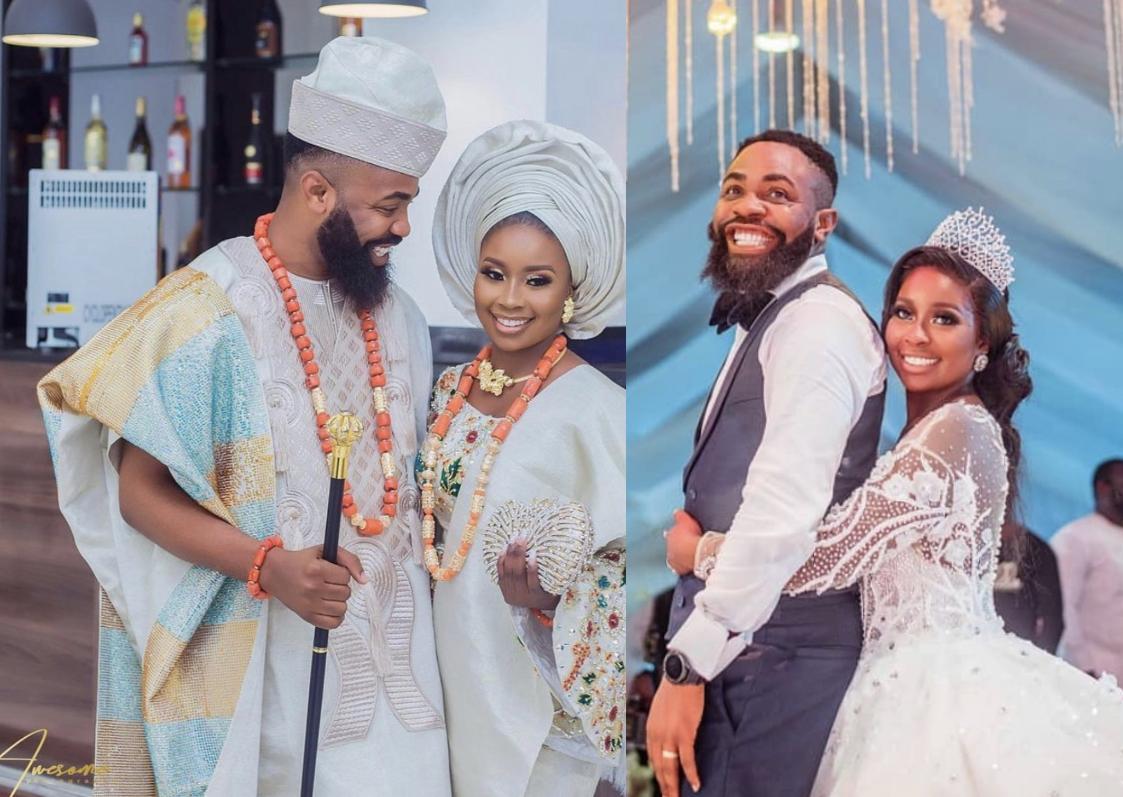 Woli Arole and wife, Yemi