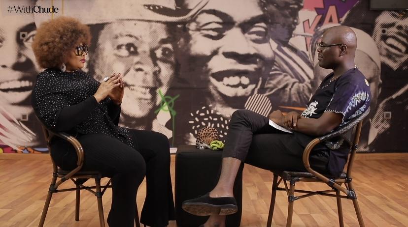 Eucharia Anunobi openes up to Chude Jideonwo, host of #WithChude