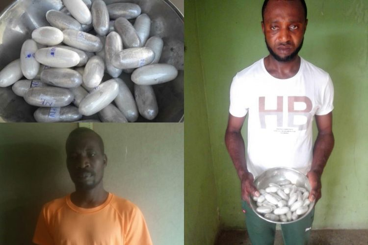 Drug traffickers Okoro and Bello busted with N264m cocaine in Abuja