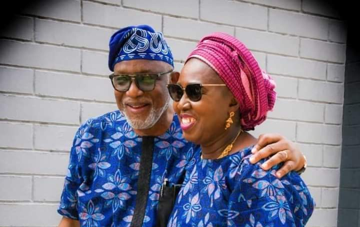 Governor Akeredolu and his wife, Betty