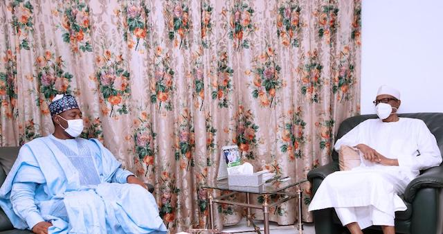 Governor Zulum briefs Buhari