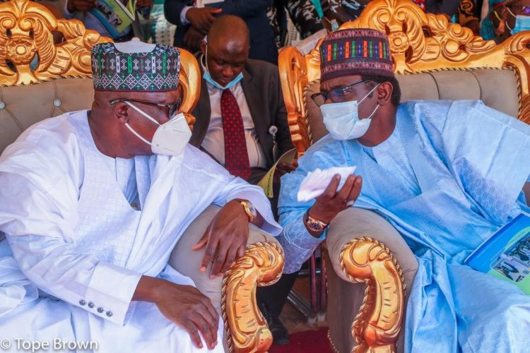 Ahmad Lawan and Governor of Yobe State, Mai Mala Buni at the appeal fund