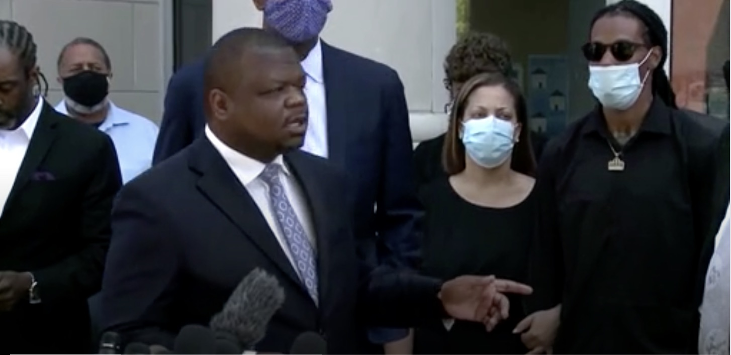 One of the lawyers for Andrew Brown at a press briefing on Monday in Elizabeth City North Carolina
