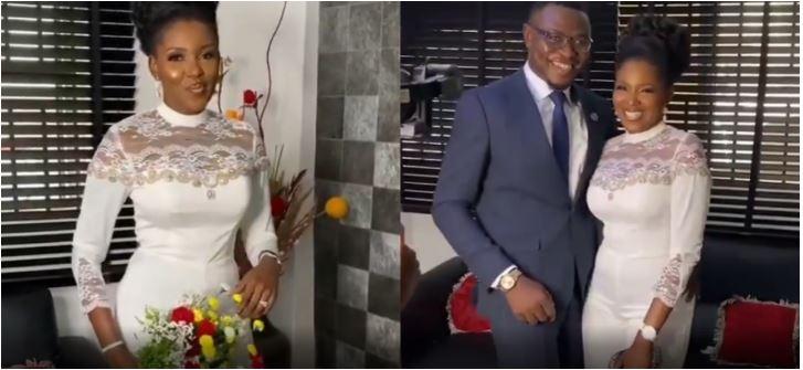 Biola Adebayo and her hubby, Oluseyi