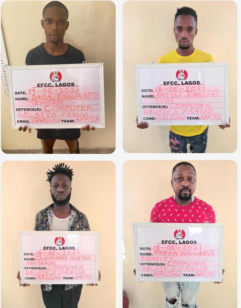 Emeka Williams Kingsley, the owner of Glass House, 14 others arrested for internet fraud in Lagos.