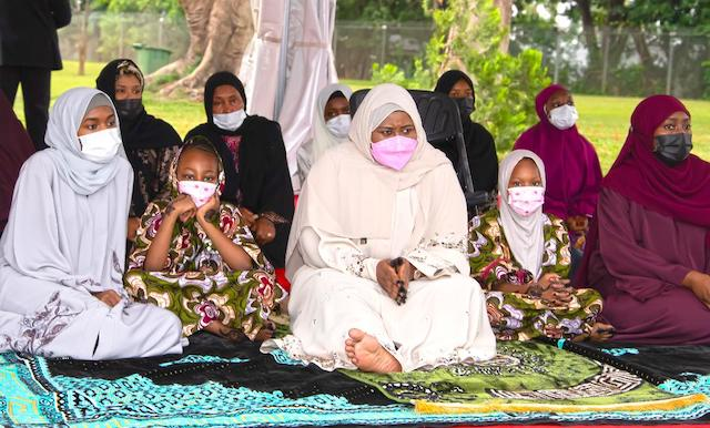 Aisha Buhari, middle, with other female members of the family