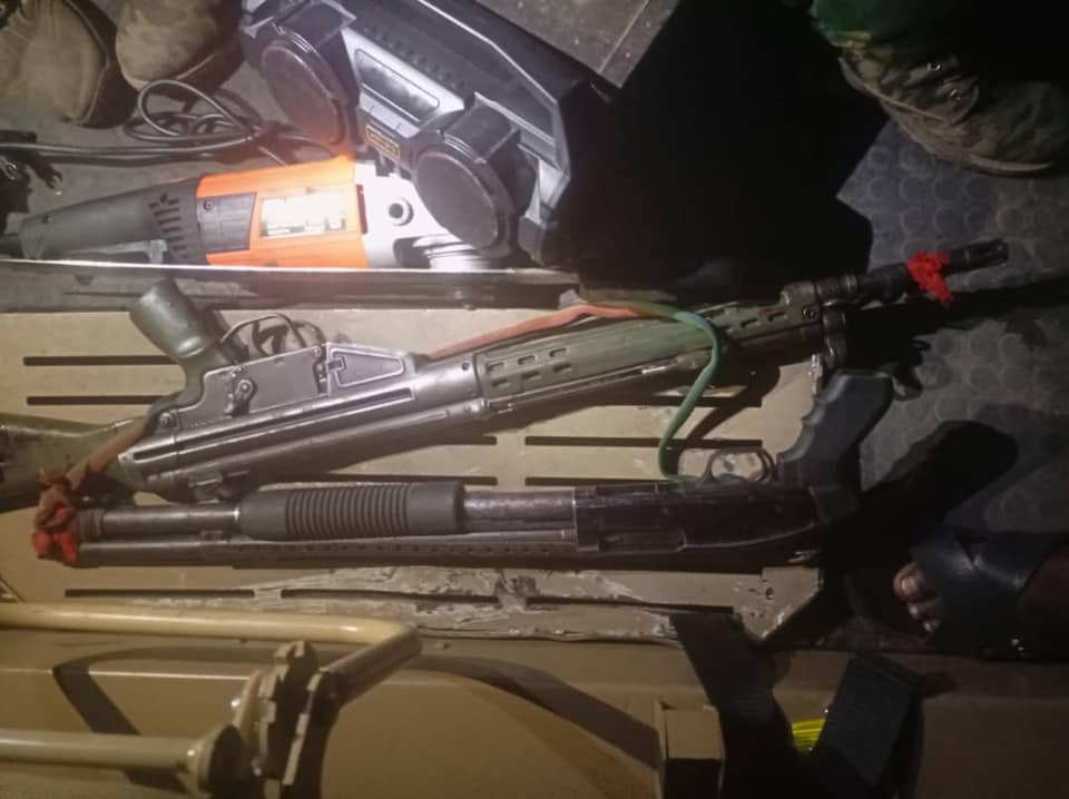 Guns recovered from IPOB members as they attempted to burn police station in Imo