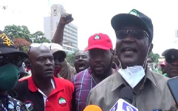 Ayuba Wabba leads labour unionists protest in Kaduna on Day 2