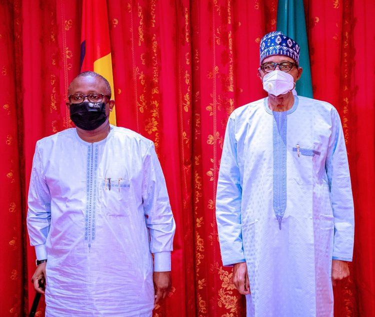 Buhari meets Embalo in Abuja