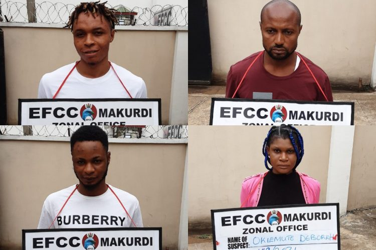 Four suspected Internet fraudster syndicate busted in Makurdi