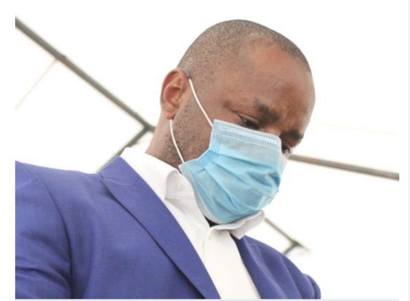 Gideon Nuka Gbaravopnu at a Milimani court where he was charged alongside a Kenyan Seth Steve Okute