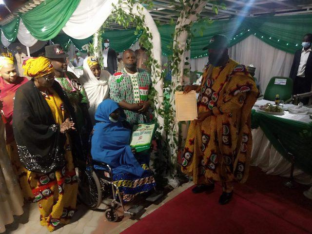 Governor Ganduje presents appointment letter to Khadijah Umar