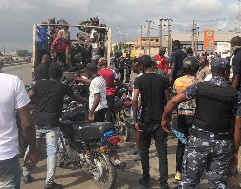 Task Force officials impound okadas