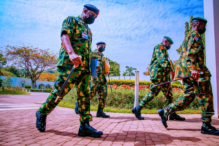 Security chiefs arriving the meeting