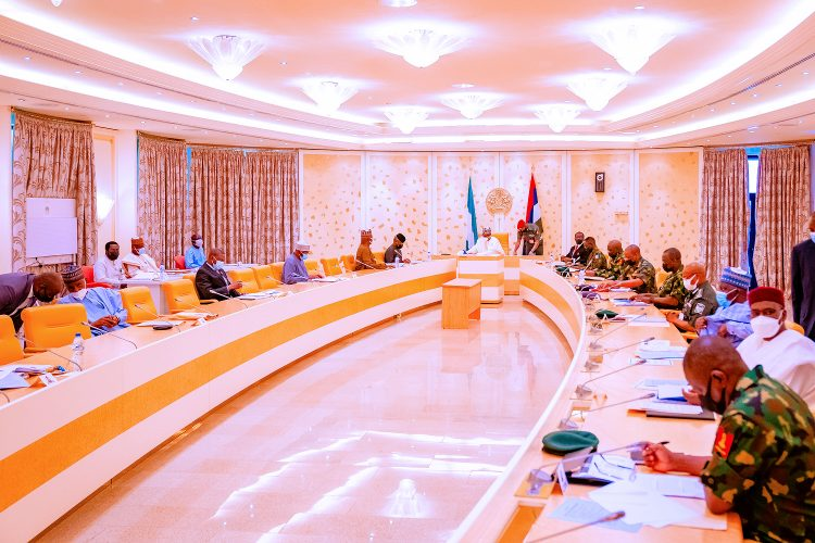 Buhari presides over security council meeting