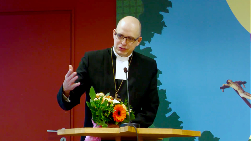 Bishop Juhana-Pohjola of Finland's Lutheran Church: charged over view on gays