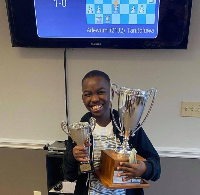 Tani Adewumi becomes U.S. Chess National master. Photo Nicholas Kristof