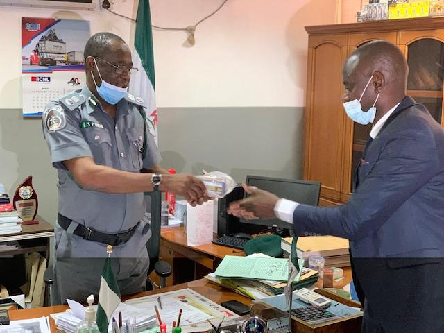 The ATM cards found on Abubakar Sale being handed over to EFCC's Dogondaji