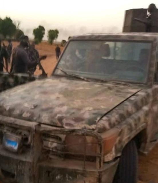The gun truck brought to Jiddari Polo area of Maiduguri on Tuesday