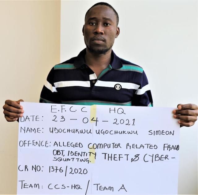 Udochukwu Ugochukwu Simeon: cloned EFCC email accounts