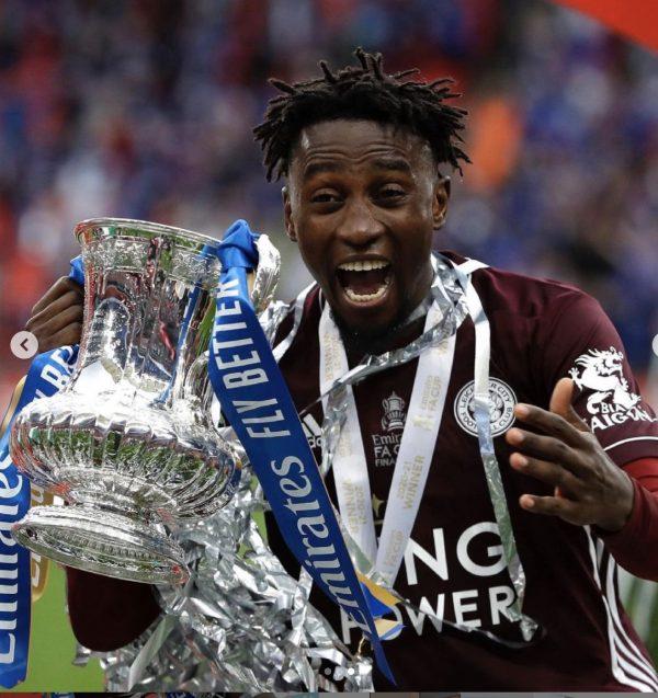 Wilfred Ndidi with FA Cup