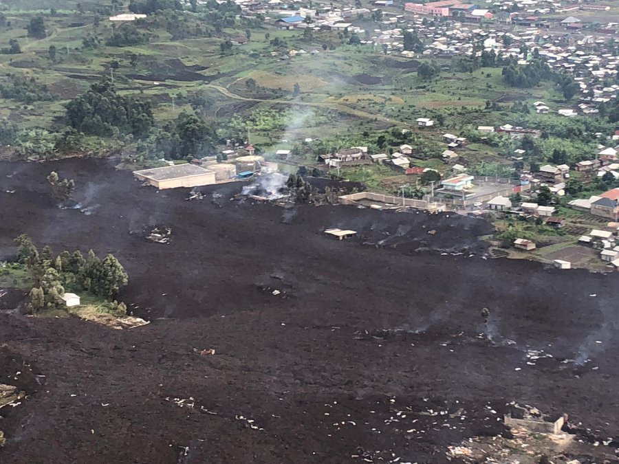 Earthquakes in  Goma after the Mount Nyiragongo volcanic eruption