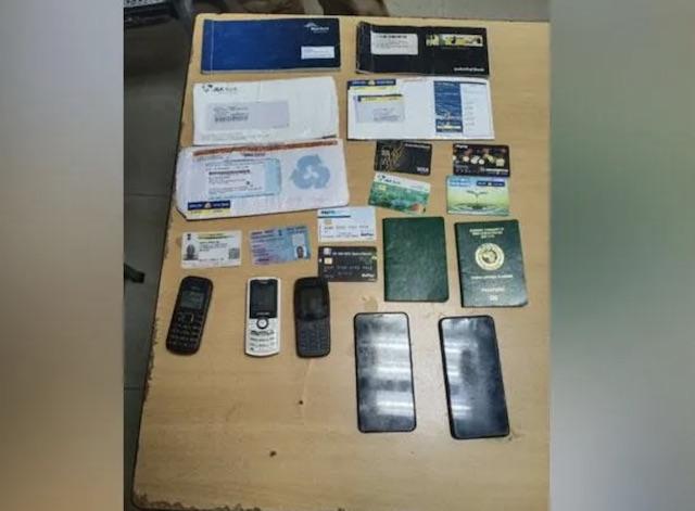 exhibits seized from Tochukwu Christian Nwosu who swindled Indian police officer