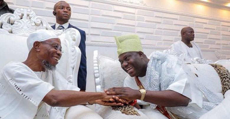 Minister of Interior, Ogbeni Rauf Aregbesola and the Ooni of Ife, Oba Adeyeye Ogunwusi.