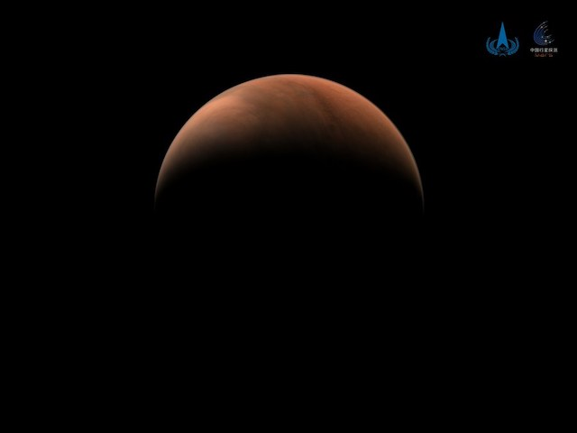 an image of Mars captured by China's Tianwen-1 probe