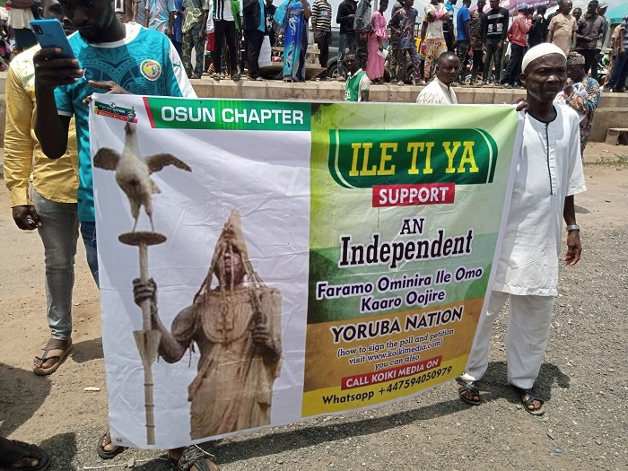 Yoruba Nation agitators hold rally in Osun State.