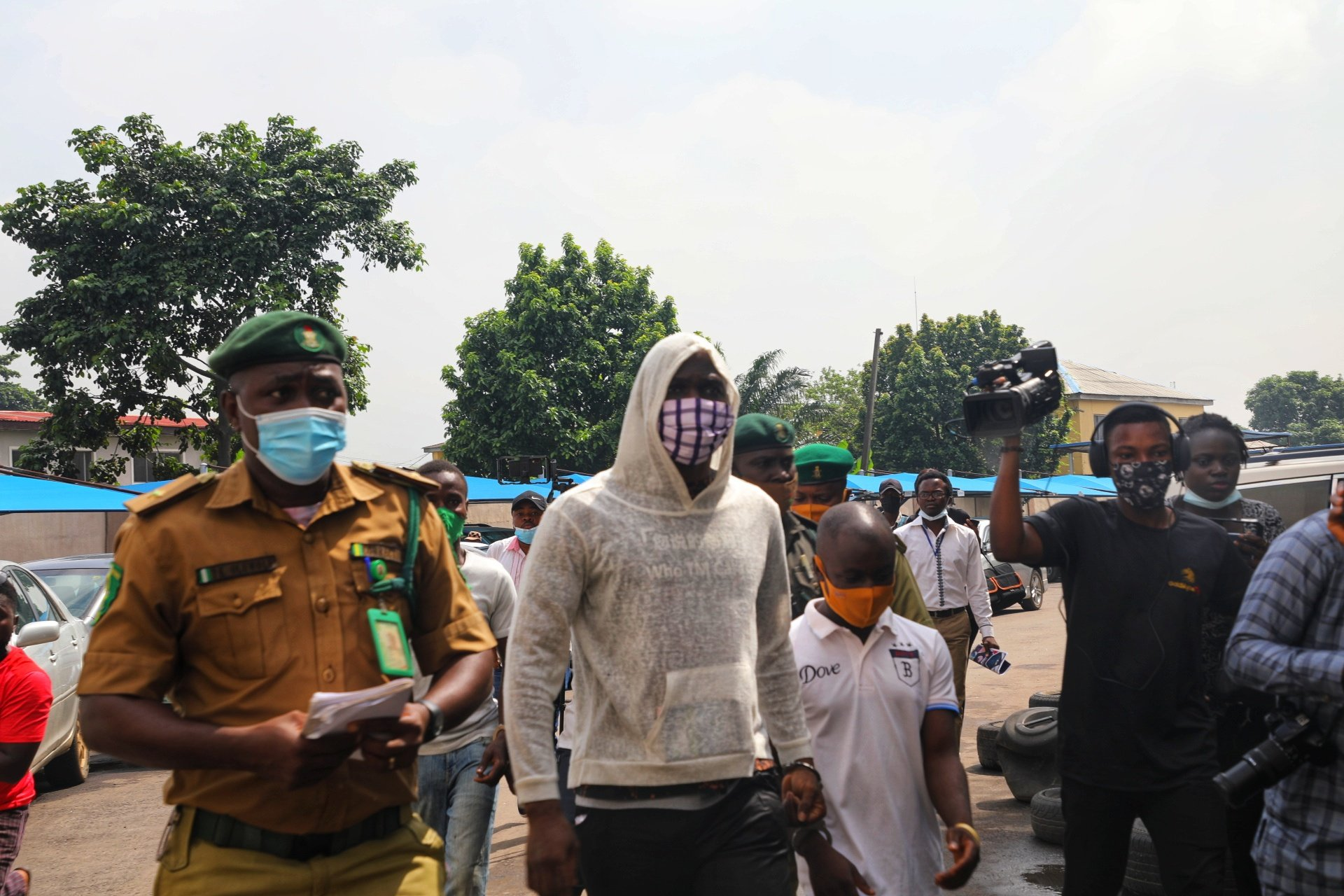 Baba Ijesha arriving court for his arraignment