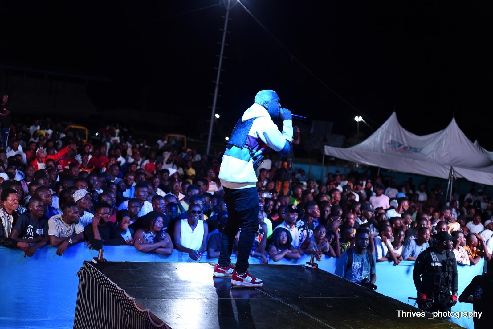 Artiste performing at Jumabee Inspires Concert 2021 held in Lokoja, Kogi State