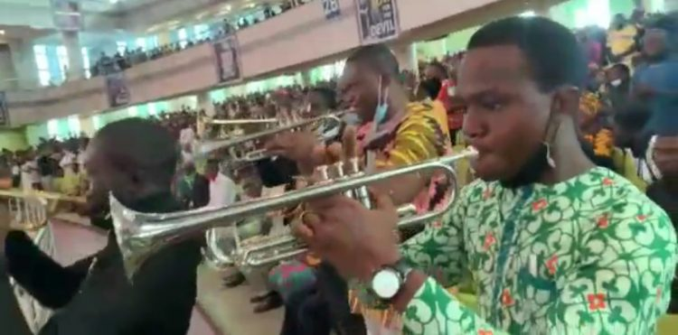 Watch video of trumpeters singing happy birthday to Kumuyi at 80
