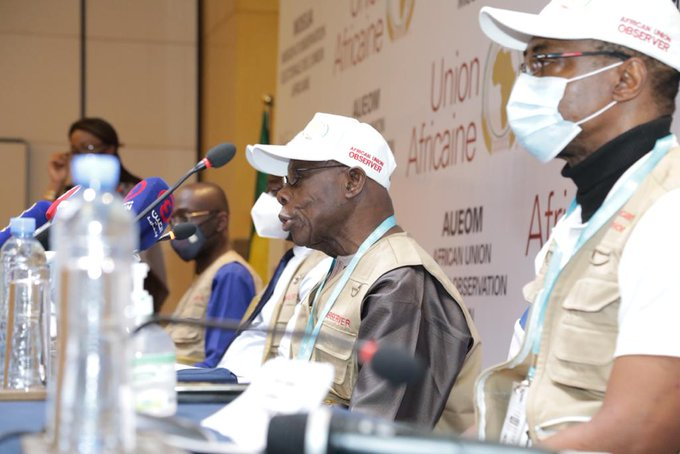 Obasanjo head of AU Observer Mission speaks on Ethiopian election