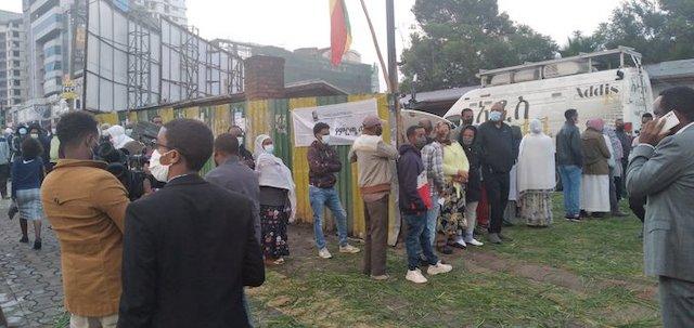 Voters in Addis Ababa Ethiopia