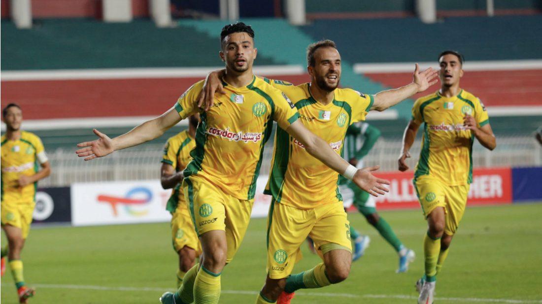JS Kabilye players defeat Cameroon's Coton Spot to reach CAF Confed final against Raja